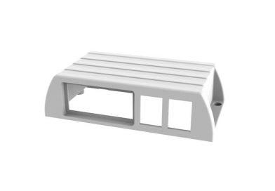 Sütlük Pano Kutusu 2 Gözlü Beyaz